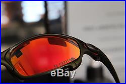 Oakley + CUSTOM JULIET CARBON + RUBY RED The CAPTAIN LENS + RARE ++ RED PADS++