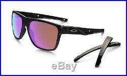 2e4414cfafd69 Oakley Crossrange Sunglasses Polished Black Frame Prizm Golf Lens-OO9361 -0457