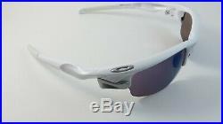 Oakley Fast Jacket Polished White G30 Iridium Polarized OO9097-06 Golf NEW RARE