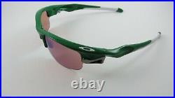 Oakley Fast Jacket Team Green G30 Iridium Golf White Icons Ear Socks+Box NEW