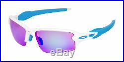 Oakley Flak 2.0 OO9271-17-61 Men's Polished White/Prizm Golf Lens Sunglasses
