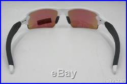 Oakley Flak 2.0 Polished White PRIZM Golf Semi-Rimless Sunglasses OO9295 06 $173