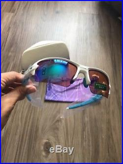 Oakley Flak 2.0 Polished White Prizm Golf Sunglasses OO9271-1761