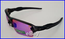 Oakley Flak 2.0 XL Prizm Sunglasses OO9188-05 Polished Black/Prizm Golf NEW