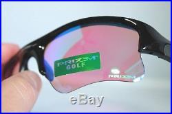 Oakley Flak Jacket XLJ Sunglasses 24-428 Polished Black Frame With Prizm Golf Lens
