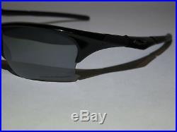Oakley Half Jacket 1.0 Black with Case Polarized Baseball Golf Sport Lens Fast