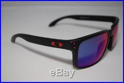 Oakley Holbrook Sunglasses Matte Black Frame Positive Red Iridium Lens OO9102-36