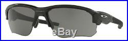 Oakley Men's Flak Draft Rectangular Sunglasses, Polished Black, 67 mm