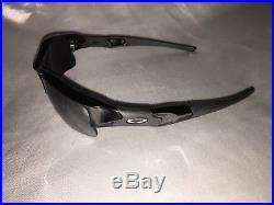Oakley Men's Flak Jacket XLJ Polarized Sunglasses Jet Black/Iridium 12-903