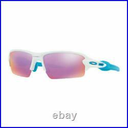 Oakley Men's OO9271 Flak 2.0 Asian Fit Rectangular Sunglasses, Polished White