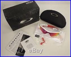 Oakley Men's Radar Path Golf Sunglasses Polished White/Red Iridium