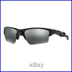 Oakley Mens Half Jacket 2.0 XL Sunglasses Polished Black/Black Iridium