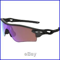 Oakley Mens Radarlock Asian Fit Sunglasses, Matte Black/Prizm Golf, One Size