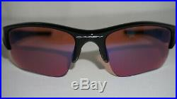 Oakley New Sunglasses Flak Jacket XLJ Polished Black G30 Iridium Golf 26-239