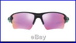 Oakley OO 9188-70 Flak 2.0 XL Polished Black Green / Prizm Golf Sunglasses NIB