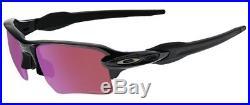 Oakley Sunglasses FLAK 2.0 XL Polished Black Frame with Prizm Golf Lens