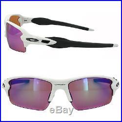 oakley flak 2.0 sunglasses polished white/prizm golf