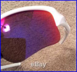 Oakley Sunglasses Flak Jacket Polarized Red Iridium Lenses White Golf Case Incl