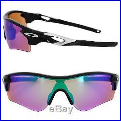 oakley golf sunglasses radarlock  Oakley Sunglasses Radarlock Path OO9181 42 Black Prizm Golf and Slate Iridium 02 susc