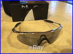 Oakley golf M Frame Sweep Bright Chrome Slate irid Lens Sunglasses