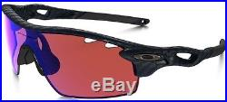 Oakley radarlock carbon fiber sunglasses w G30 iridium & slate iridium lenses