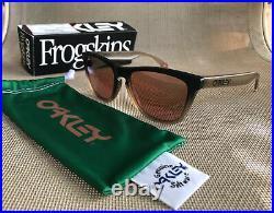Oakley x Staple STPL Frogskins Black Fade Prizm Dark Golf Sunglasses OO9013-I655